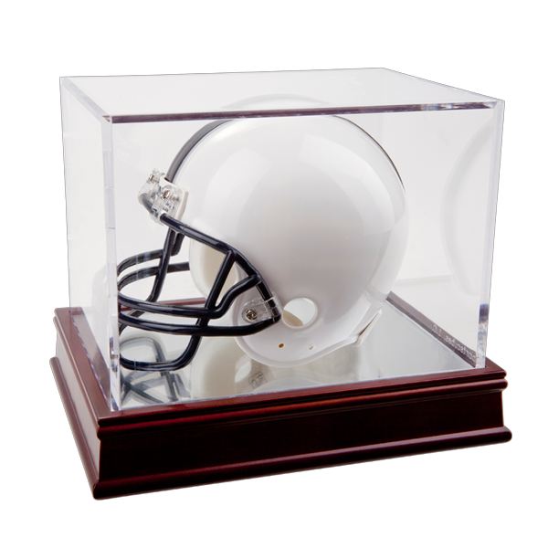 UV Mini-Helmet Display on Wood Base